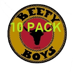 10 Pack Hot Peppered Locale Beefy Boys Beef Jerky 1.0 Oz.