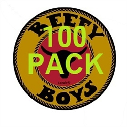 100 Pack Original Locale Beefy Boys Beef Jerky 1.0 Oz.