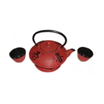 Red Teapot Set #1