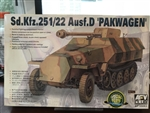 AFV CLUB 1/35 SdKfz 251/22 Ausf D Halftrack w/Self-Propelled Howitzer Gun