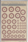 ALMARK DECALS 1/72 FRENCH RONDELS 1914-1918