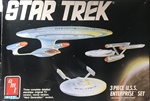 AMT 1/2500 Star Trek 3 Piece U.S.S. Enterprise Set