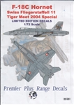AVIATION WORK SHOP 1/72 F-18C HORNET SWISS FLIEGERSTAFFELL  11 TIGER MEET 2004 SPECIAL