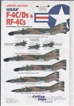 CUTTING EDGE 1/32 USAF F-4C/DS & RF-4CS SOUTHEAST ASIA SCHEMES #1