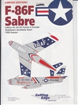 CUTTING EDGE 1/48 F-86F SABRE #2 USAF IN EUROPE SKYBLAZERS AEROBATIC TEAM 1956 SEASON