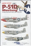 CUTTING EDGE 1/48 P-51D MUSTANG OF THE 335 FS, 353 FS, 362FS & 82TRS