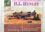COTTAGE INDUSTRY MODELS 1/72 THE CONFEDERATE SUBMARINE H.L. HUNLEY