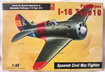 Hobby Craft 1/48 Polikarpov I-16 Type 10 Spanish Civil War Fighter