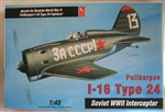 Hobby Craft 1/48 Polikarpov I-16 Type 24 Soviet WWII Interceptor