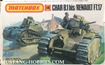 MATCHBOX 1/72 Char B.1 bis / Renault FT17