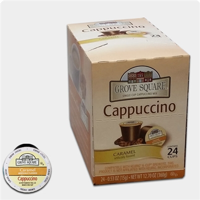 Photo of Caramel Flavored Cappuccino K Cups by Grove Square