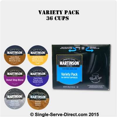 Photo of 36 Variety Pack of Coffee K Cups by Martinson Coffee