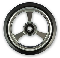 "Durable Wheelchair Parts & Accessories | 4"" x 1"" EPIC Alum Caster Wheel, 5/16"" Bearing"
