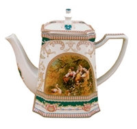 Woman and Swan Teapot