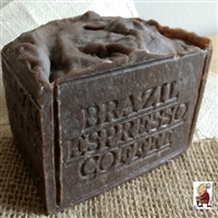 Aged Limited Edition Handcrafted  Large Brazilian Espresso Coffee Soap 13 oz Bar
