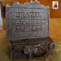 All Natural Artisan Brazilian Espresso Coffee Soap Hint of Vanilla