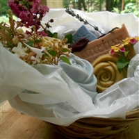 Handmade Natural Artisan -Collection Soap Gift Basket (Five Piece)