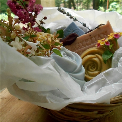 Handmade  Artisan -Collection Soap Gift Basket (Five Piece)
