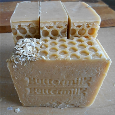 Handcrafted Natural Skin Care Soap made with fresh buttermilk -  Oatmeal, natural exfoliate
