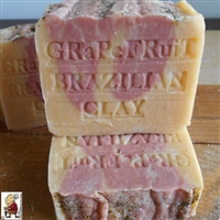 Handmade Artisan Citrus South African Grapefruit with Moroccan Red Clay and Tangerine Butter Soap