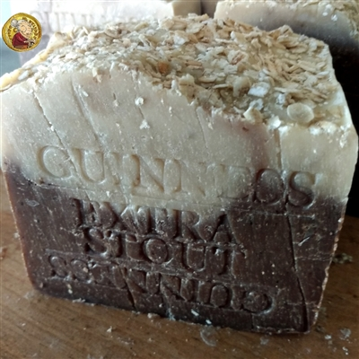 Natural Artisan Beer Soap Oatmeal - Stout Guinness Soap Bar- Handcrafted