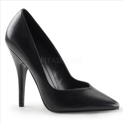Smooth Black Patent Leather Women Business Pump