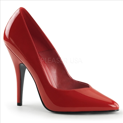 Smooth Red Patent Leather Womens Pumps