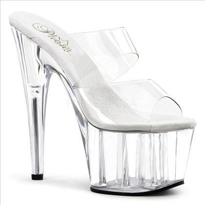 Clear With Clear Vamp Sexier Stiletto Heel