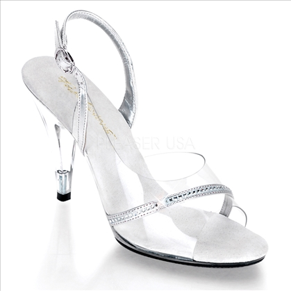 sling back clear shoes