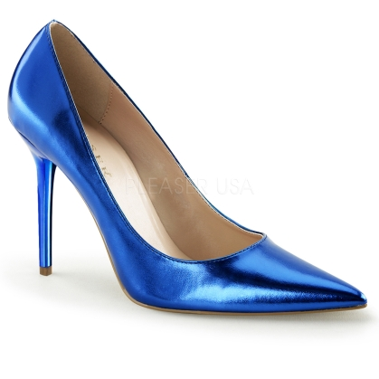 metallic blue business shoes