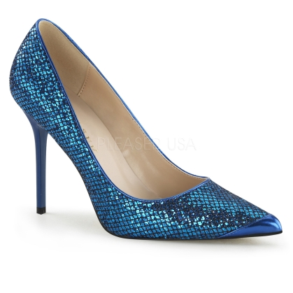 navy blue glittery shoes
