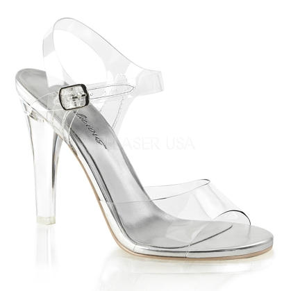 clear ankle strap sandal