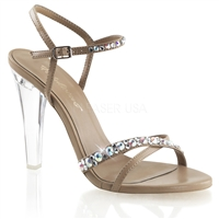 AB crystals high heel shoes