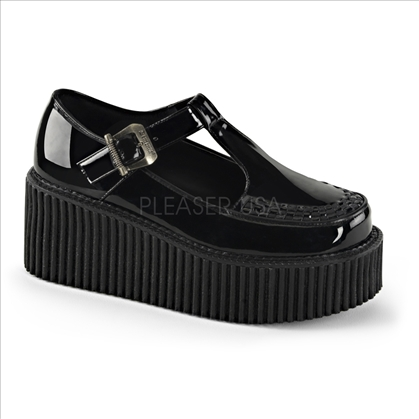 side cutout t-strap creeper shoes
