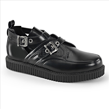 men's double buckle creeper shoes