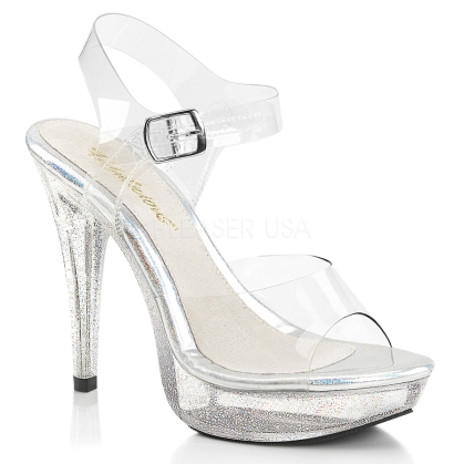 iridescent glitter ankle strap shoes