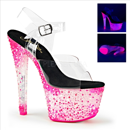 neon hot pink uv reactive shoes