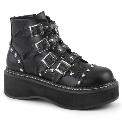 alternative fashion Demonia boots with heart shaped studs