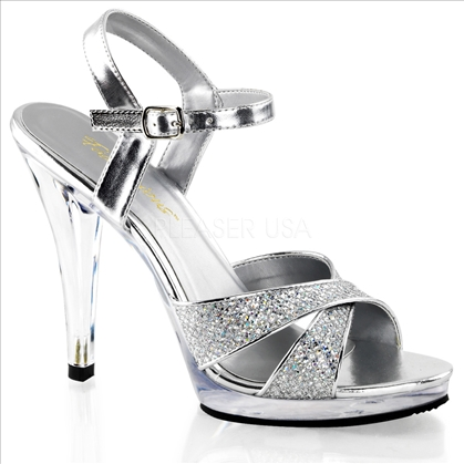 Silver with multi-glitter wedding shoes