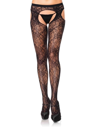 Stockings Gardenia Lace Suspender Hose