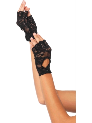 Costume Accessories Keyhole Fingerless Gloves