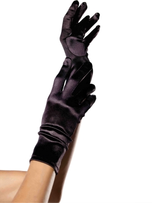 Accessories Wrist Length Satin Gloves