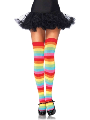 Stockings Multicolor Thigh Highs