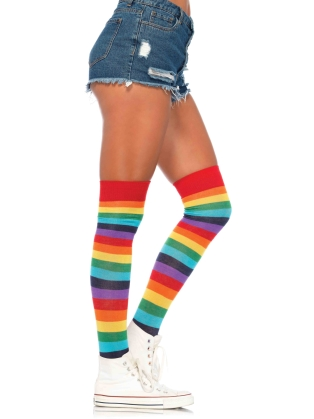 Stockings Rainbow Thigh Highs