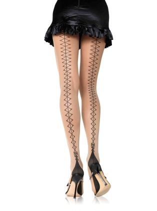 Stockings Corset Lace Up Pantyhose