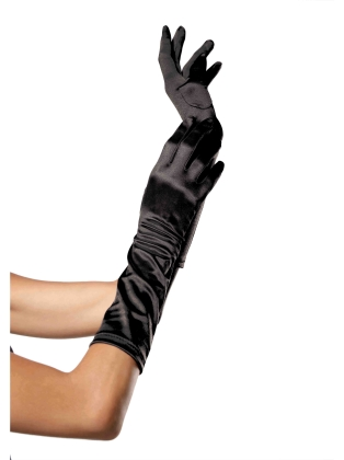 Fashion Accessories Elbow Length Satin Glove