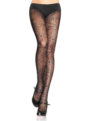 Stockings Exotic Spider Lace Pantyhose