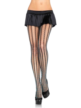 Stockings Thorn net contrast color pantyhose