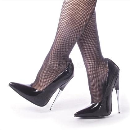 Spike Heel Sharp Slope Pointed Toe Black Patent