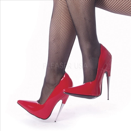 Spike Steel Heel Pointed Toe Red Patent Leather